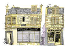 Shop Fronts - Doodle My House project. Eilidh Muldoon | Eilidhmuldoodles