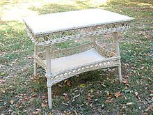 Large  Bar Harbor Wicker Table