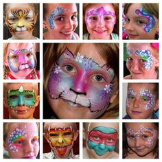 A selection of my work: South Shields, North East England, UK Hi I'm Nicola and I run Faces 4 Fun, based in South Shields, North East England. I bring a touch of colour and glitter Face Painting Designs, Body Painting, New Face, Face And Body, Facial, Halloween Home Decor, Costume Makeup, Painting For Kids, Makeup Art