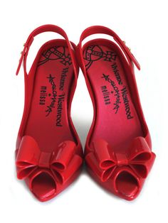 Vivienne Westwood red peep toe bow
