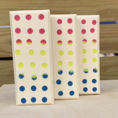 Final soap after cutting, planing, and beveling the bars. Candy Buttons, Bar Soap, Polka Dots, Challenge, Club, Polka Dot, Dots