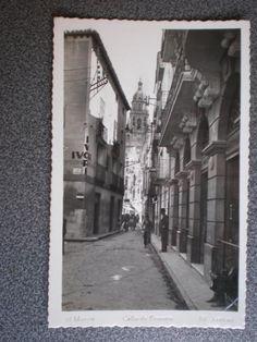 MURCIA CALLE DE FRENERÍA POSTAL FOTOGRÁFICA ANTIGUA (Postales - España - Murcia Antigua (hasta 1.939))