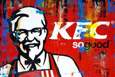 """Marwan Chamaa, """"KFC"""", 2019, acrylic on canvas, diptych (2-parts), 120 x 180 cm (47.24 x 70.87 inch. All images are used with the permission by the artist. Re-Pinning is permitted, however, please do not distribute, reproduce, reuse in any shape or form without first contacting the artist: marwan@art-factory.us © Marwan Chamaa First Contact, Kfc, Reuse, Shapes, Canvas, Gallery, Artist, Painting, Image"""