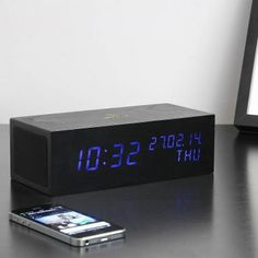 Alarmklok 'Music Click Clock' (black)