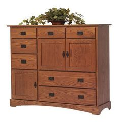 Amish Old English Mission Grand Mule Chest Live large with plenty of storage in this Amish made mule chest. Built in America in choice of wood, stain and hardware. Add cedar drawer bottoms, dust panels, soft close drawers and more! #mulechest #bedroomstorage