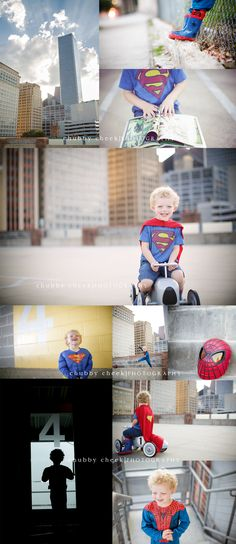 OMG a superhero session downtown!! YES. Chubby Cheek Photography Houston, TX…
