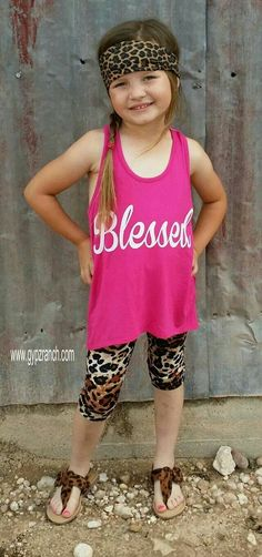 Kids - Blessed Hot Pink Tank Top