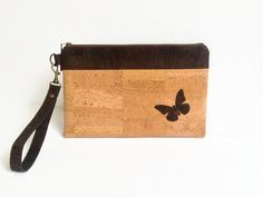 Cork Wristlet Pouch Eco Friendly gift by MyCottonHouse on Etsy