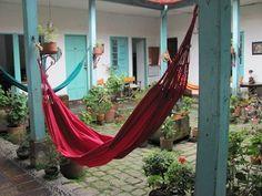 Bogota, Colombia Hostel, Outdoor Furniture, Outdoor Decor, South America, Hammock, Home Decor, Bogota Colombia, Decoration Home, Room Decor