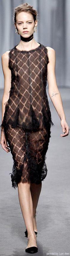 Chanel ~ Couture Spring Brown+Black Midi  2011