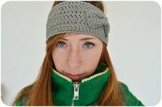 PUNKELMUNKEL: Stirnband mit Schleife häkeln