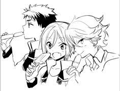 Free! ES ~~ Chibi Sosuke, Rin, and Kisumi