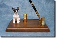 5 Coat Styles-Rat Terrier K9 Dog Breed Card Holder or Desk Set.Home Decor Dog Products & Gifts