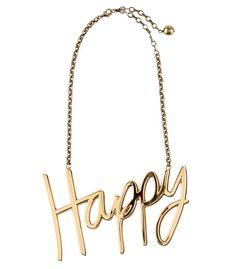 Lanvin Happy Necklace - Gold Necklace - ShopBAZAAR