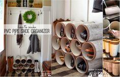 DIY PVC Pipe Shoe Organizer