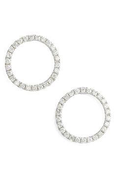 Bony Levy 'Kiera' Pavé Diamond Open Circle Stud Earrings (Nordstrom Exclusive)