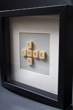 Idea for a gift for my parents' 30th anniversary in a few weeks, because of my dad's love of scrabble and my mom's love of decorating.