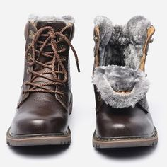 Buy BOYS Winter Snow Boots Super Warm Size Genuine Natural Leather Handmade Men Winter Shoes at Wish - Shopping Made Fun Snow Boots Outfit, Mens Snow Boots, Mens Winter Boots, Winter Outfits Men, Winter Snow Boots, Winter Shoes, Doc Martens Boots, Duck Boots, Natural Leather