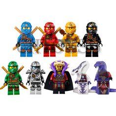 9 set Minifigure Ninja Ninjago Lloyd Skylor Zane Cole Jay Kapau Building Toy GZ #Decool