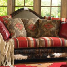 I like this with different fabric and patterns. #countryrusticcouch (country rustic couch)