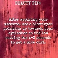 BEAUTY TIP : After applying your mascara, use a blow dryer pointing up towards your lashes on the low setting for 2-3 seconds to get a nice curl. Use younique 3D FIber mascara for best results <3 YouniquelyCarla.com