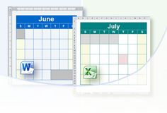 Create FREE customizable calendars on Word or Excel. They have blank formats plus ones already set up for the year with holidays, school calendars, etc.