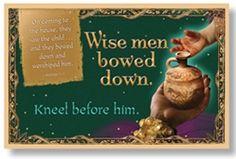 Christmas Bulletin Board Set - Wise men bowed down.