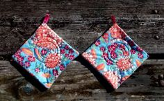 Impressionist Pot Holder Set of 2 by marylandquilter on Etsy, $15.00
