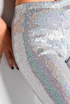 holographic pants...because if you have to wear pants they might as well be sparkly!