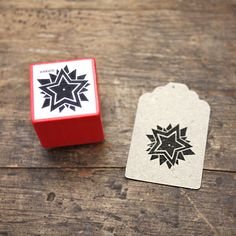 Christmas Star Rubber Stamp by winklerin on Etsy