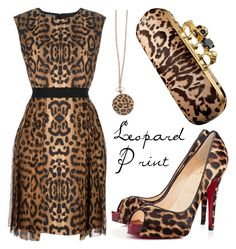 Leopar Print by missloulouxx on Polyvore featuring polyvore, fashion, style, Giambattista Valli, Christian Louboutin, Alexander McQueen, Toy Watch and clothing