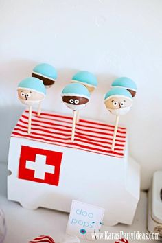 Doctor / Surgeon / Nurse Cake Pops!  Cute!