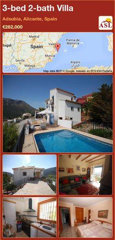 3-bed 2-bath Villa in Adsubia, Alicante, Spain ►€282,000 #PropertyForSaleInSpain