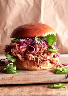 Honey BBQ Pulled Pork Burgers from www.whatsgabycooking.com (@whatsgabycookin) Easy slow cooker / football food!