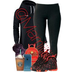 Slump by trill-forlife on Polyvore featuring polyvore, fashion, style, Joe Browns, NIKE and MCM