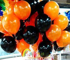 wholesale Halloween balloon 50pcs orange +50pcs black ballon decorations for kids party/wedding/celebrotions freeshipping-inBalloons from Toys  Hobbies on Aliexpress.com $12.99