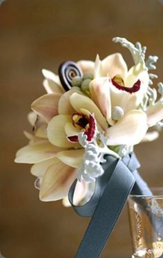 Unusual white cymbidium orchid bouquet by flora bella--LOVE ORCHID'S White Orchid Bouquet, Orchid Bouquet Wedding, Floral Bouquets, Bridesmaid Bouquet, Wedding Flowers, Bridal Bouquets, Cymbidium Orchids, Arte Floral, Decoration