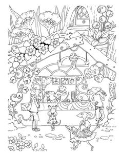Nice Little Town 5 Adult Coloring Book Pages PDF Printable For Stress Re