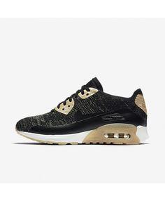 purchase cheap b042d a130c Nike Air Max 90 Ultra 2.0 Flyknit Metallic Black Womens Sale Chaussures Air  Max, Chaussure