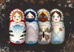 Today, you'll find Matryoshka dolls depicting American politicians as well as celebrities.