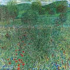 Gustav Klimt - Garden landscape - 1910 Oil on canvas 110 × 110 cm Pittsburgh, Carnegie Museum of Art