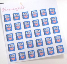 30 Kawaii Planner MATTE Icon Stickers for your by Plannergirls