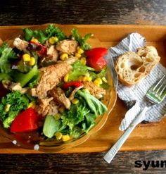 【簡単!!カフェサラダ】しっとり鶏むね肉のおかずサラダ