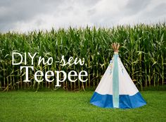 DIY No-Sew Teepee - a must-have for the playroom! {Click for tutorial}
