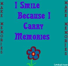 Smile quote via Comeback Power at www.Facebook.com/CancerDuckIt and www.ComebackPower.com