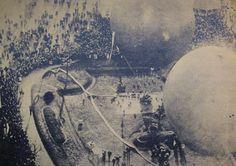 """Muestra de globos aerostáticos. Una foto tomada desde el globo """"Buenos Aires"""" a cien metros de altura..."""