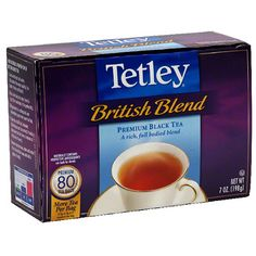 Tetley British Blend tea bags, for hot tea ...