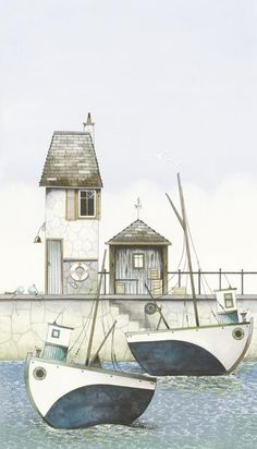The Mooring by Gary Walton, Art Print