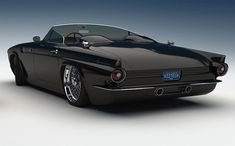 1955 Custom Ford T-Bird (made from a new Mustang? Hot Rods, My Dream Car, Dream Cars, Design Autos, Cars Vintage, Retro Vintage, Auto Retro, Ford Thunderbird, American Muscle Cars