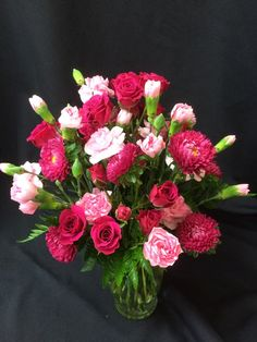 Mini carnations, spray roses, and motsumoto!